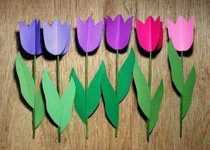 Как сделать картонные цветы