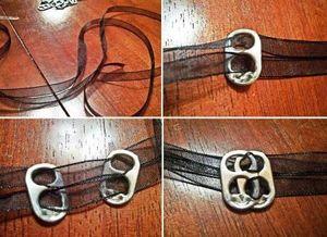 Необычный браслет из ленты своими руками