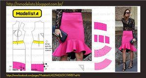 модели летних юбок с выкройками