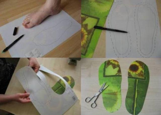 Как сделать валяные тапочки своими руками 104