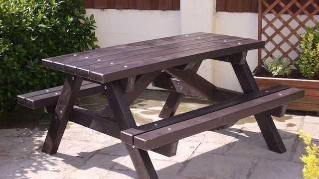 Стол со скамейкой своими руками 83
