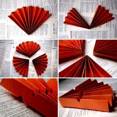 Веер с цветами своими руками из бумаги