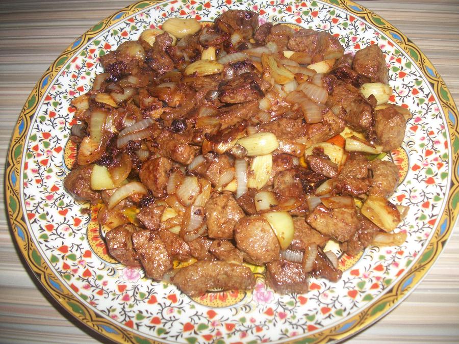 говяжья печень в соевом соусе рецепт с фото