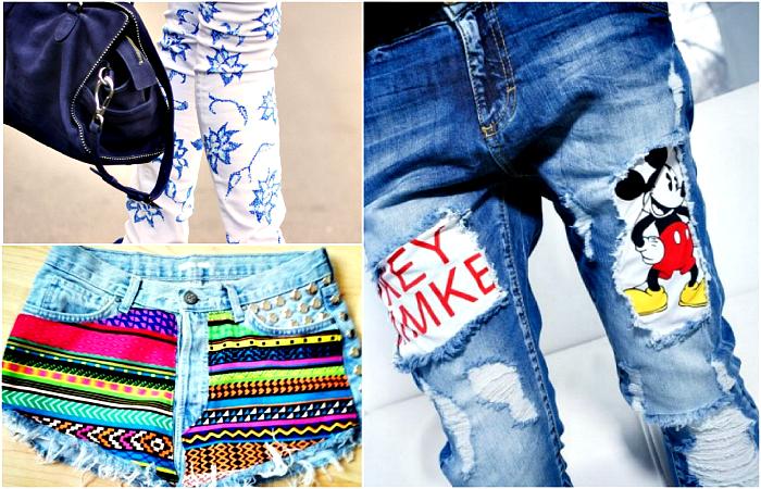 Как из старых джинс сделать модные