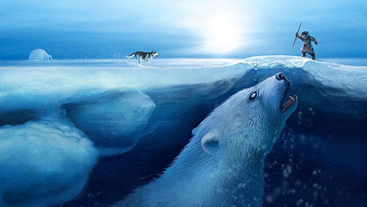 Картинки по запросу гигантский медведь мифология эскимосов картинки