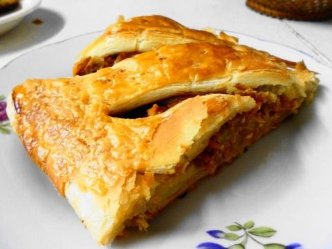 Пирог с капустой слоеное дрожжевое тесто покупное