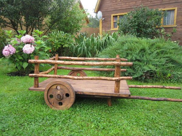 Как своими руками сделать телегу в сад 979