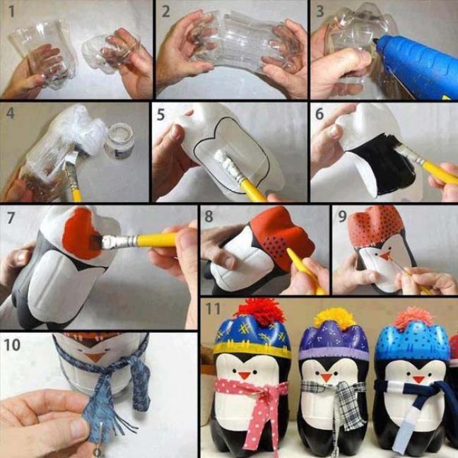 Как сделать из пластиковой бутылки игрушки