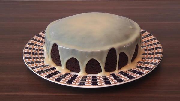 487Ганаш из белого шоколада для покрытия торта фото