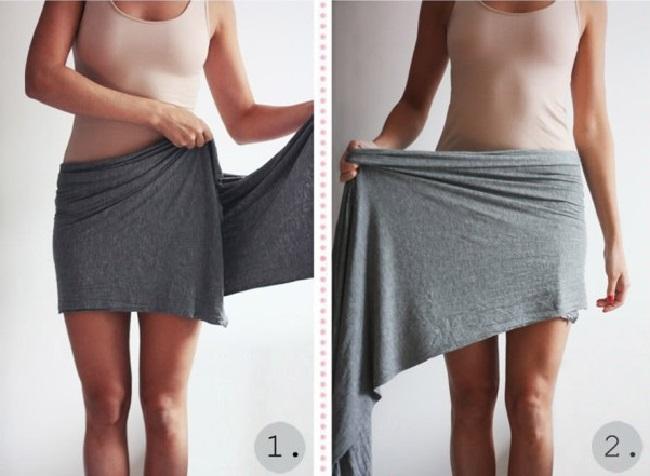Как сделать из узкой юбки пошире 174