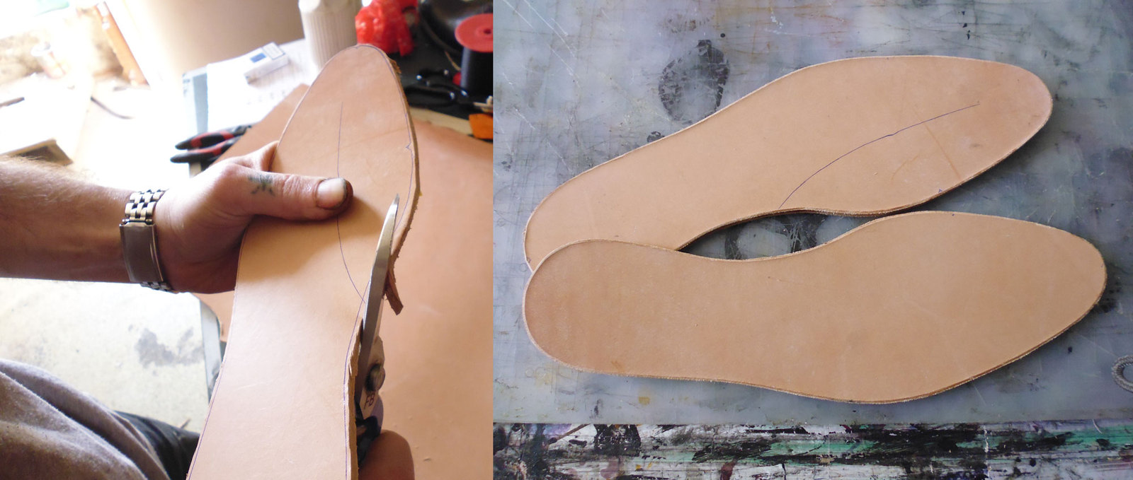 Замена стельки у старых босоножек Мастер-класс своими руками