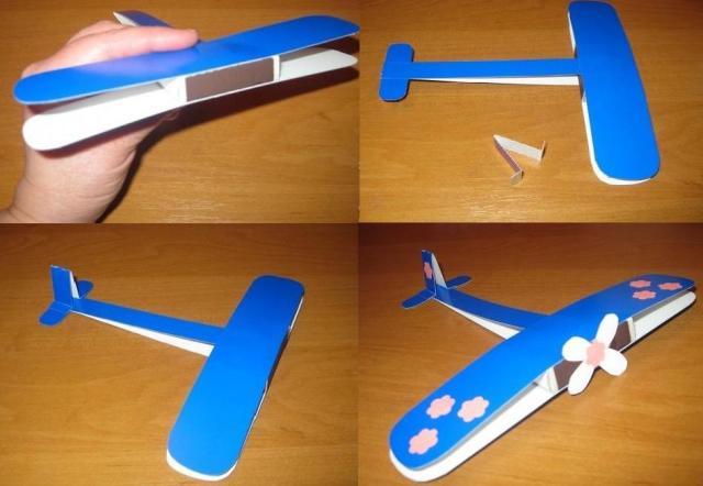 Сделать самолет из картона своими руками