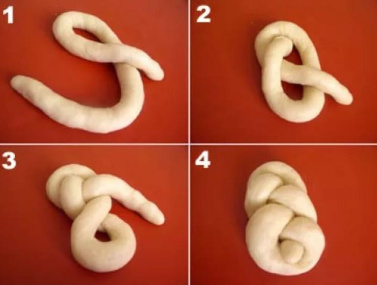 Как сделать из теста булочки с сахаром рецепт с фигуры