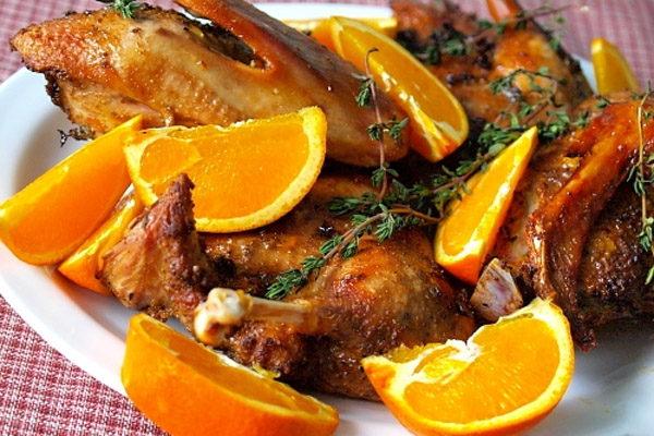 Гусь с апельсинами в духовке