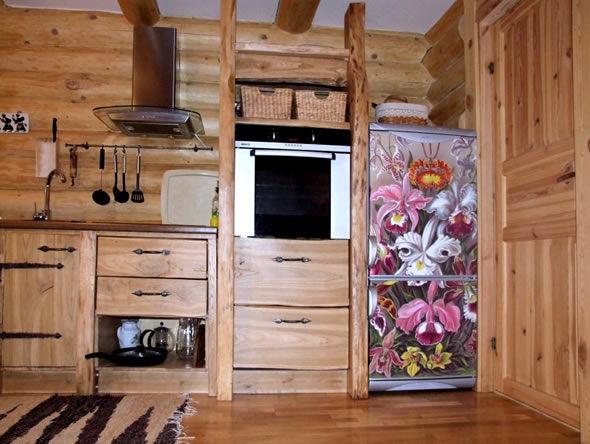 Никаких магнитов: яркий декор холодильника изоражения