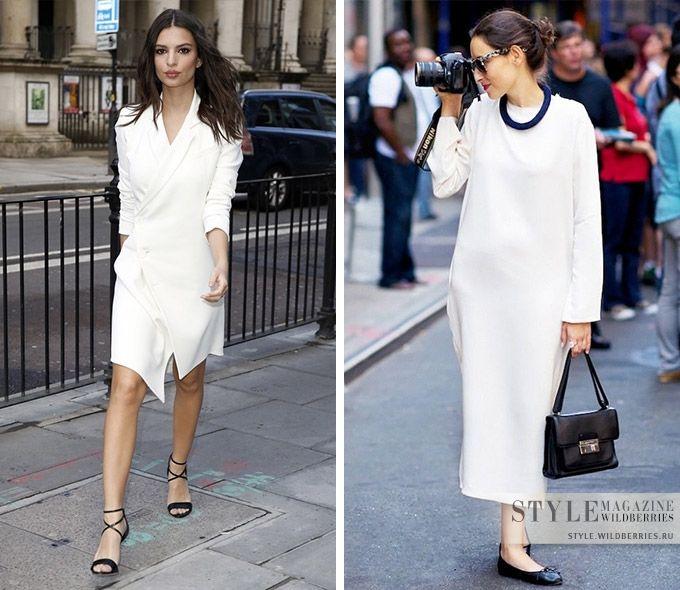 e6d8abe362f Даже банальные черные туфли-лодочки или балетки в комплекте с белым платьем  становятся стилевым акцентом