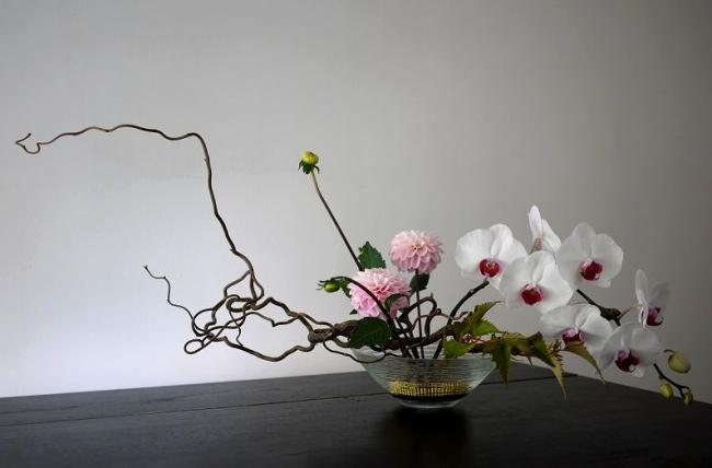 Экибана из сухих цветов своими руками фото