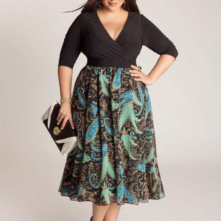 667b7b3f024cba6 Как одеваться полным женщинам — модно, стильно, удобно!