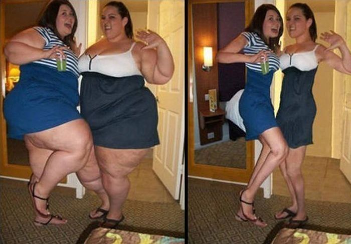 Смешные фото до и после похудения