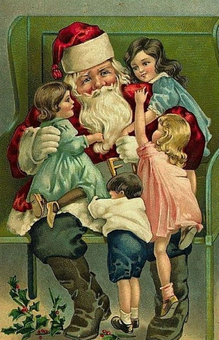 История рождественских открыток в сша