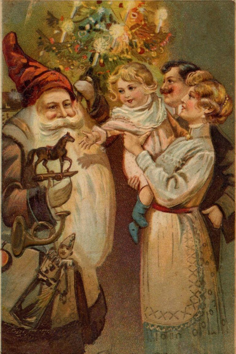 Открытки с новым годом рождеством дореволюционные