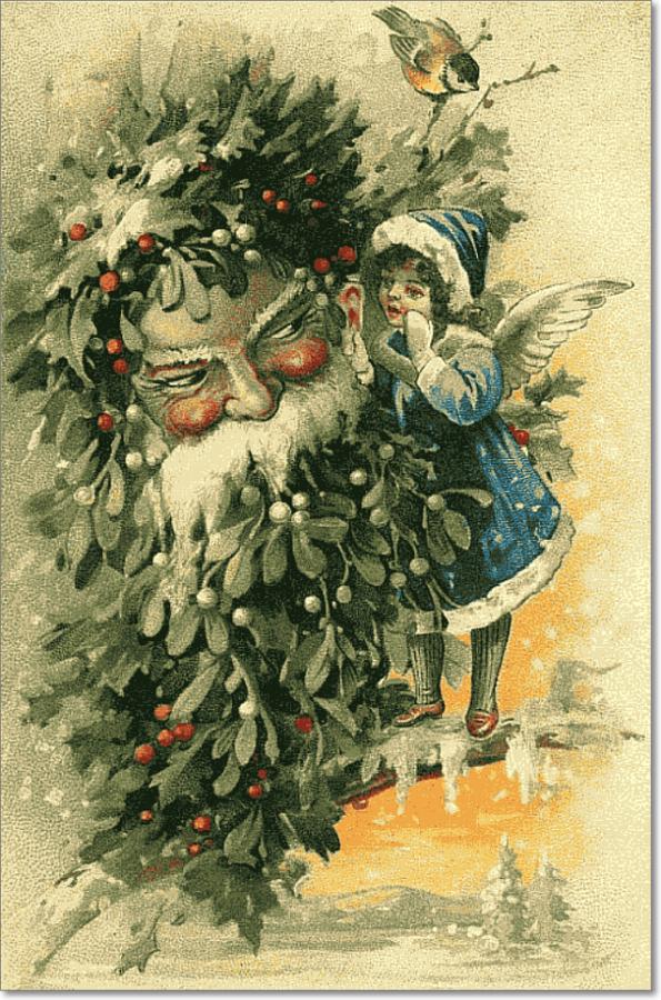 Днем, старые открытки нового года и рождества