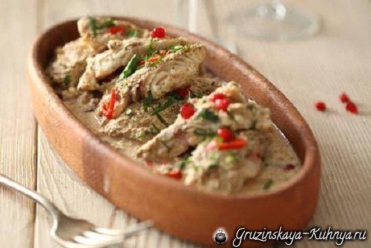 Фото рыба в ореховом соусе