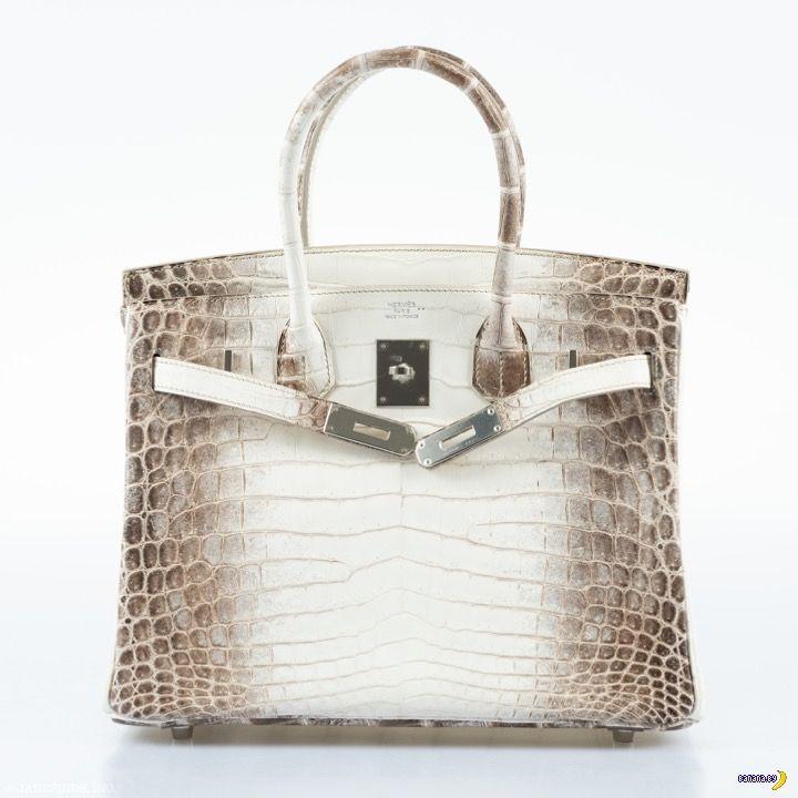 5e3b3ed972cc Чтобы было более понятно, насколько безумны такие сумки, приведем один  пример – вот сумка Hermes Birkin 30 White Himalayan Niloticus Crocodile  Palladium ...