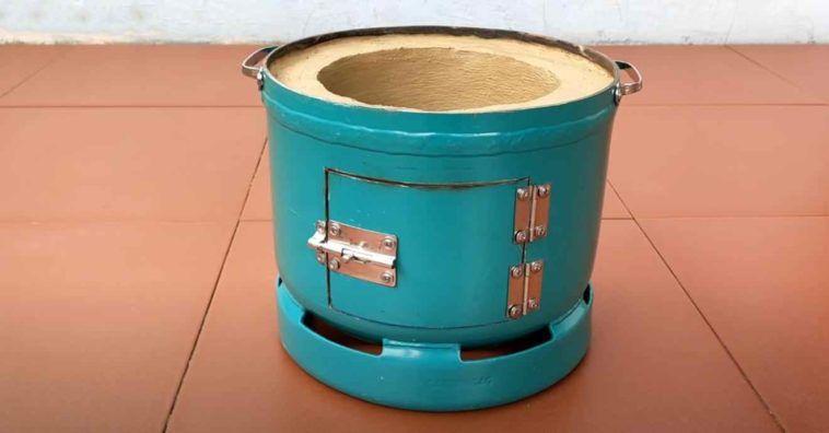 Идея для дачи: самодельная печь-барбекю из пропанового баллона