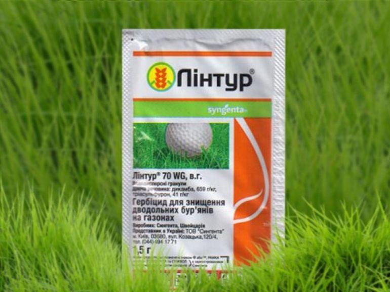 Лучший гербицид для газонов — Линтур, инструкция по применению