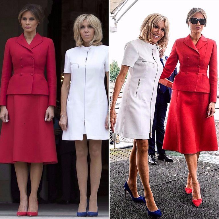 Урок модной дипломатии от первой леди Франции: образы 64-летней Брижит Макрон покоряют изяществом в 2019 году