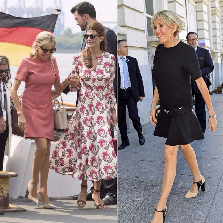 Смотреть Урок модной дипломатии от первой леди Франции: образы 64-летней Брижит Макрон покоряют изяществом видео