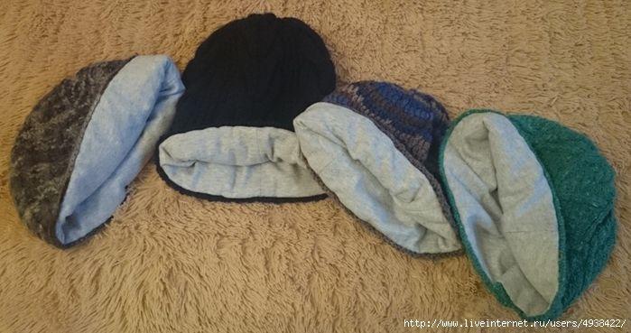 шьем шьём шьём подклад для вязаной шапки без выкроек