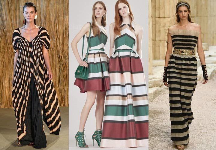 Актуальные модные тенденции позволяют создавать самые разнообразные луки  весна-лето 2018 на основе платьев с вертикальными 18516dbc63978