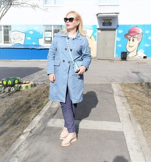 Ootd: baby blue trench..........