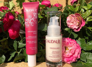 Caudalie Vinosource S.O.S. Thirst Quenching Serum, Caudalie Vinosource Riche Intense Moisture Rescue Cream / обзор.