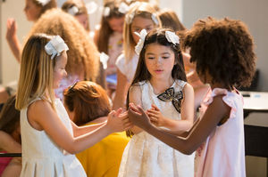 Bambini at Pitti Bimbo! The flowers of our lives!! Beautiful kids and Alisha V show!