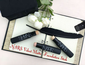 Nars Velvet Matte Foundation Stick Review, Swatches / обзор.
