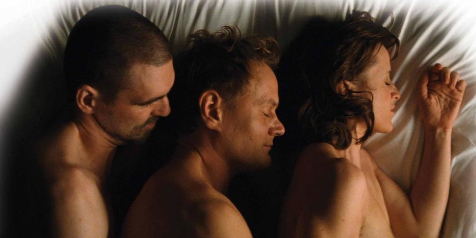 Threesome video trailer, free gay black male pissing