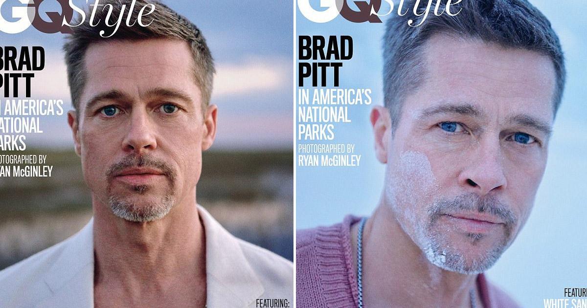 Интервью и фотосессия с Бредом Питом, после его развода