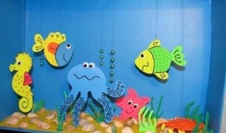 Поделка Аквариум с рыбками своими руками. Мастер-класс с 84