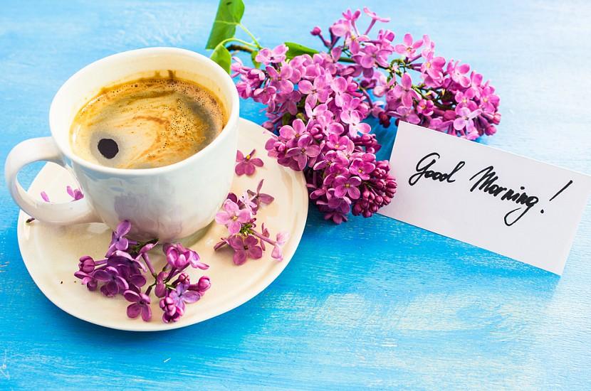 Открытка чашка кофе отличного дня